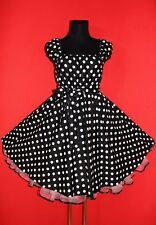T 54 56 58 Rockabilly 50er Jupon Pin Up Soirée Fête Vintage Robe Halloween