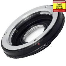 Anillo adaptador lentes Minolta MD a Sony Alpha