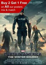 Captain America The Winter Soldier 2014 Movie Poster A5 A4 A3 A2 A1