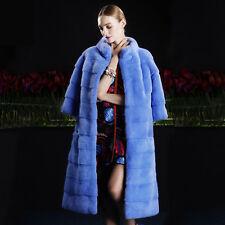 Blue Color Mink SAGA fur coat  Full Skin / MEXA