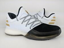 Adidas Harden Vol. 1 Youth Kids Basketball Shoe Boost White Black [BY3481] sz 5