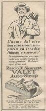 W1381 Rasoio di sicurezza VALET Autostrop - Pubblicità 1926 - Vintage Advert