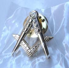 ZP177 Freemason Masonic lapel pin badge Square Compass Gold Plate FREE UK POST