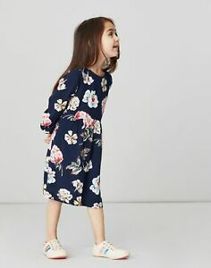 Joules Girls Emma Woven Dress  - Navy Floral - 6Yr