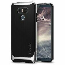 Spigen Neo Hybrid LG G6 Case Herringbone Flexible Inner Protection Satin Silver