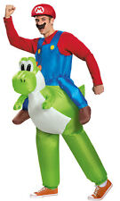 Mario Riding Yoshi Adult Costume Inflatable Airblown Nintendo Halloween