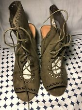Charlotte Russe Lace Up Booties Size 10