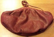 Vintage, Margolm, Burgundy, Embossed Leather, Hobo/Crossbody/Clutch Handbag