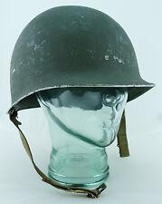US ORIGINAL Military WWII WW2 Front Seam Fixed Bale Helmet