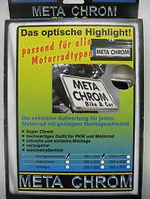 MetaChrom Chrom 180x200 mm Motorrad Kennzeichenhalter Nummernschildhalter