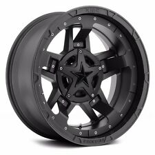 17x9 XD Rockstar 3 XD827 5,6,8 Lug 4 New Black Wheels Rims FREE Caps Lugs Stems