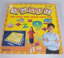 Smath The Game That Makes Math Fun Pressman Board Game New 2004