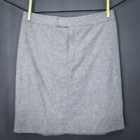 J Crew Womens Skirt Size 8 Gray Wool Blend Mini Straight Pencil Lined Career
