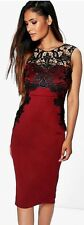 BNWT Fitted Lace Top Wedding Evening Cocktail Party Mother Of Bride Dress UK 10