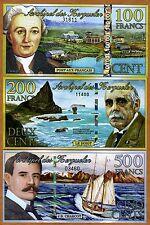 SET Kerguelen Island, 100;200;500 2011-2012, POLYMER UNC