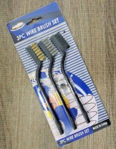 5X Wire Brush Set  Nylon Steel Brass Cleaning Polishing Metal Rust Brush Kit