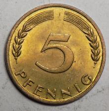 Germany 1950J 5 Pfennig Coin