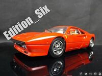 Burago 1:18 1984 Ferrari GTO Italian Sports car Model