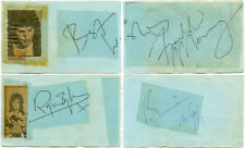 Queen signed autograph album pages 1970s British band Freddie Mercury Brian May