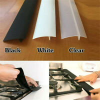 Oven Guard Spill Seal Slit Silicone Filler Kitchen Stove Counter Gap Cover White