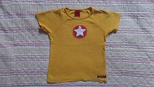 tee shirt  haut jaune manche  courte  VILLERVALLA 4 ans - 104 cm motif étoile