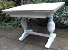 FINE ARTS & CRAFTS PAINTED CHIC EXTENDING DINING TABLE- DELIVERY AVAILABLE