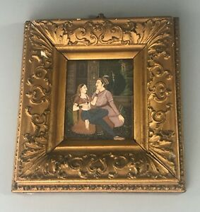 Antique Indian Picture Gesso Gilt Frame 18cm x 20cm A70017
