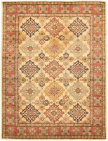 "Hand-knotted Carpet 4'11"" x 6'8"" Finest Gazni Traditional  Rug"