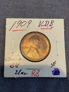 1909 VDB LINCOLN WHEAT CENT MS LUSTER CHOICE BU UNC no reserve! SEE OTHERS