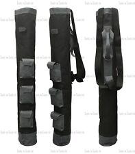"1 x Gray & Black 3 Pockets Pencil Golf Club Ball Bags 34"" Height Light Weight"