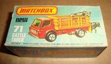 MATCHBOX 75 SUPERFAST NEW 71 DODGE CATTLE TRUCK MATCHBOX 1977