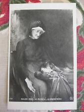 """CPA tableau femme Salon peinture 1906 Mercié """"La grand-mère"""""""