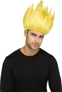 Anime Cartoon Wig Adult Costume Accessory, Yellow