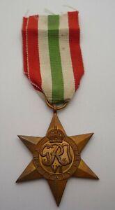 WW2 GENUINE ITALY STAR MEDAL NAMED