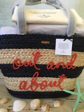 KATE SPADE NWT SHORE THING OUT AND ABOUT STRAW SUMMER PICNIC TOTE WITH DUST BAG