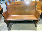 """50 1/2"""" 1/4sawn oak church pew/ 1906 / NYC """"Queens"""" church / delivery available"""
