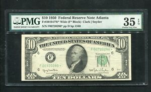 FR. 2010-FW* 1950 $10 *STAR* FRN FEDERAL RESERVE NOTE PMG VERY FINE-35EPQ RARE