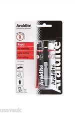 Araldite rapid époxy adhésif super fort colle 2x 15ml tubes rouge