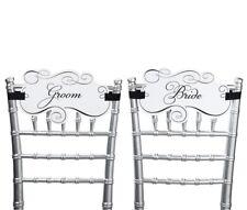 reception chair sashes wedding bridal shower bride groom chair decoration