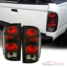 1995 2000 Replacement Dark Smoke Tail Light Pair For Toyota Tacoma W Bulb