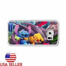 Stitch Pikachu Pokemon Game Phone TPU Soft Case for iPhone Samsung Galaxy LG HTC