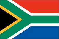South Africa Flag Color Printed Decal Sticker Car Window Wall