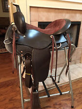 "TN Saddlery 17"" Gaited Western Saddle ""Bedford"" Choclate Brown"