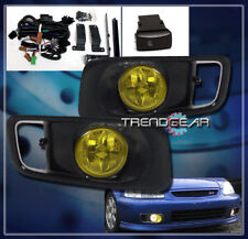 FOR 1999-2000 HONDA CIVIC FRONT BUMPER FOG LIGHTS LAMPS YELLOW LENS LEFT+RIGHT