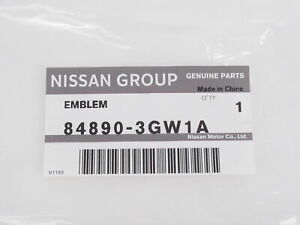 Genuine OEM Infiniti 84890-3GW1A QX70S Rear Hatch Emblem Badge