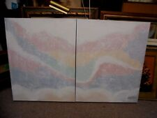 2pc. 1960s Signed Lee Renolds Textured Abstract Oil Painting Set 24x30 Each