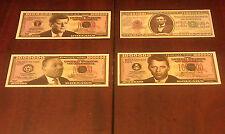 LOT 4  MILLION DOLLAR BILLS NOVELTY/PLAY MONEY *MINT* JFK~MLK~ABRAHAM LINCOLN