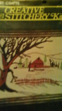 VINTAGE VOGART MINI CREWEL STITCHERY KIT WINTER SERENITY BARN SCENE FARM #1128F