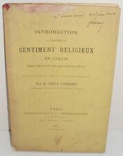 Introduction Histoire du Sentiment Religieux en Italie XIIè S- Concile de Trente