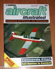 Aircraft Illustrated 1985 Jan Dan Air 748,Phantom,Sea Harrier,Concorde